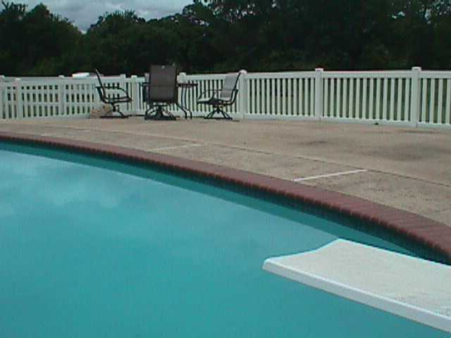 Pool security fencing