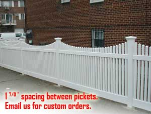Missouri Picket pvc fence