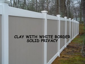 two color privacy fence