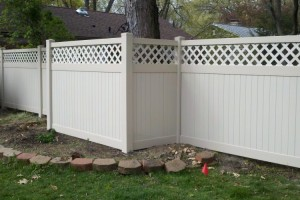 Vinyl Privacy Fence New Mexico Style-Latice Top