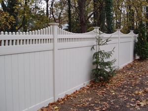 Illinois style pvc vinyl privacy fence