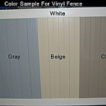 vinyl fence color options