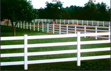 ranch 4-rail fence