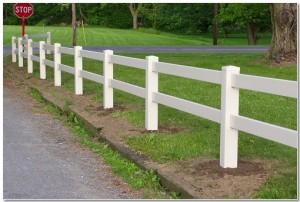 two rail split fencing