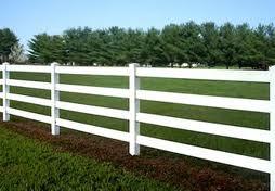 4 rail vinyl fence
