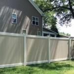 two tone vinyl fence