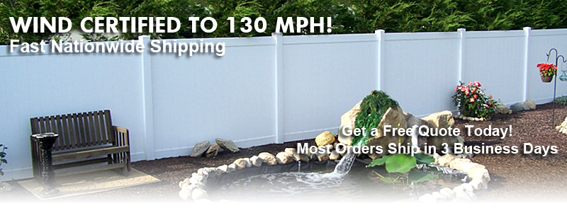 Wind Certified Privacy Fence