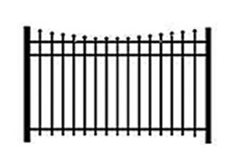 scalloped top decorative fence
