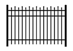varying height decorative metal fence