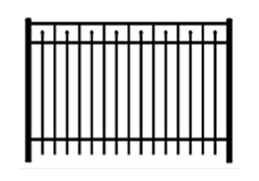 closed top metal security fence