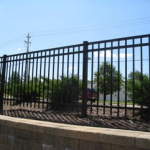 metal security fence