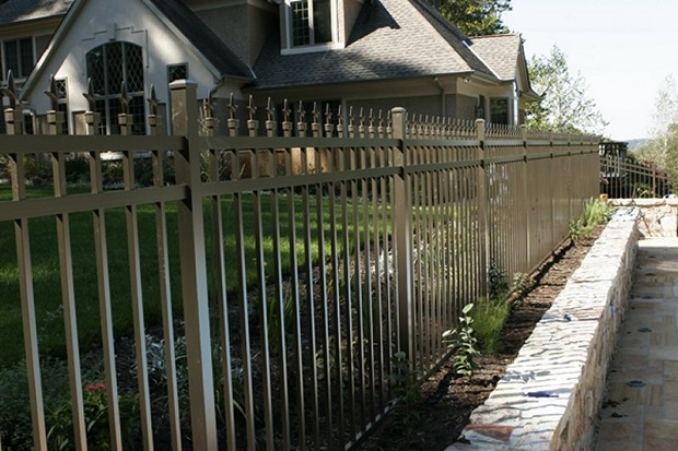 Traditional metal security fence
