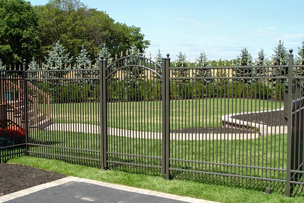 tall metal security fence