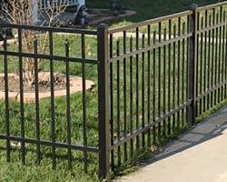black Siskin style fence