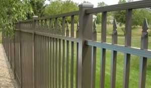 Siskin Style fence in bronze