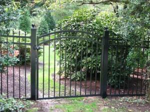 White Aluminum Gate